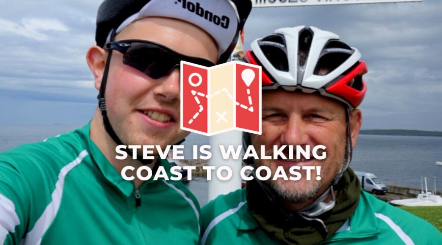 Steve is walking Coast to Coast!
